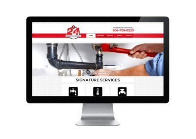 24Hrs Plumbing & Heating Web Design 02