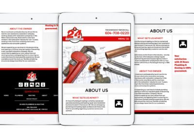 24Hrs Plumbing & Heating Web Design 03