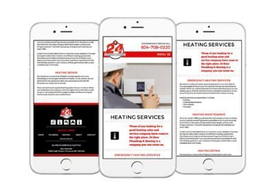 24Hrs Plumbing & Heating Web Design 04
