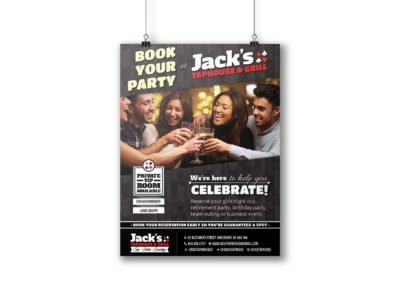 Jack's Taphouse & Grill Poster 01