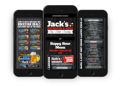 Jack's Taphouse & Grill Web Design 02