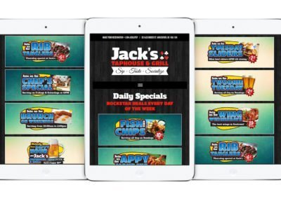 Jack's Taphouse & Grill Web Design 04