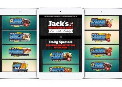 Jack's Taphouse & Grill Web Design 04