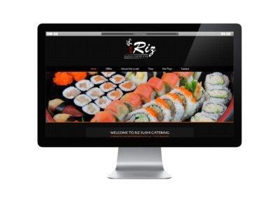 Riz Sushi Web Design 01