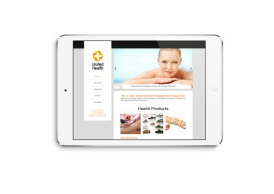 United Health Web Design iPad 01